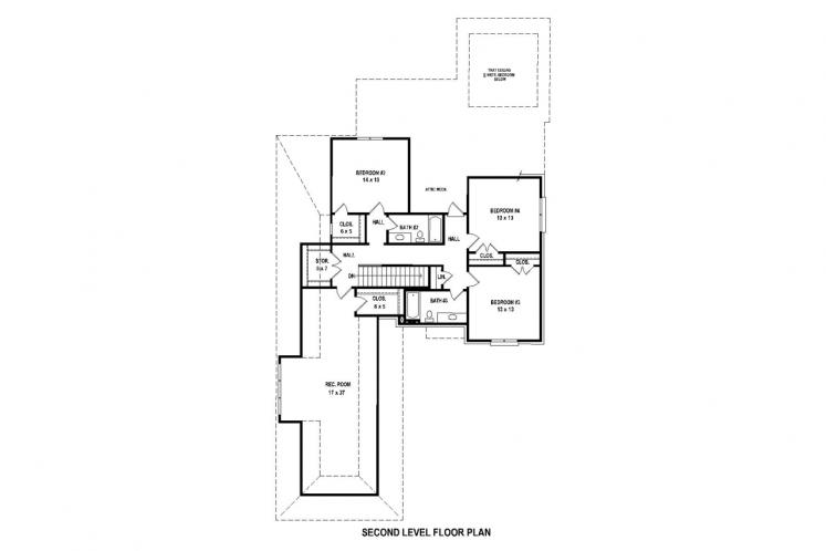 Country House Plan -  64512 - 2nd Floor Plan