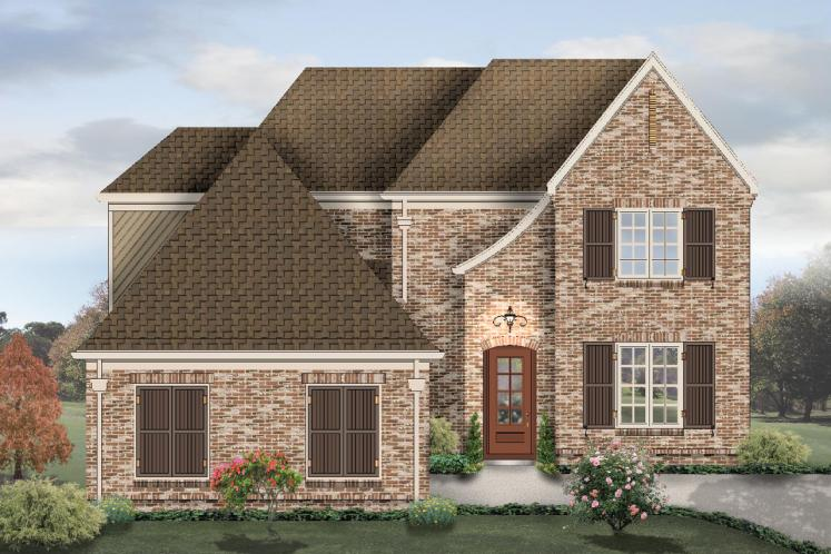 European House Plan -  64512 - Front Exterior