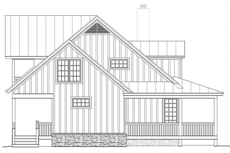 Lodge Style House Plan -  64548 - Left Exterior