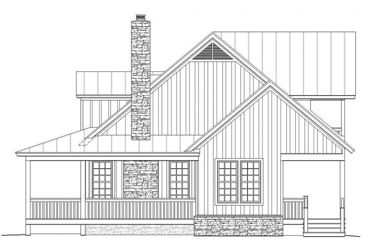 Cottage House Plan -  64548 - Right Exterior