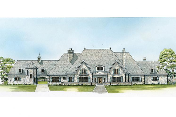 European House Plan - Bellevue 64558 - Front Exterior
