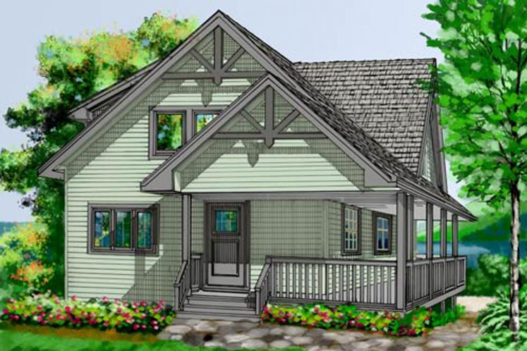 Craftsman House Plan - Seagate 64588 - Front Exterior