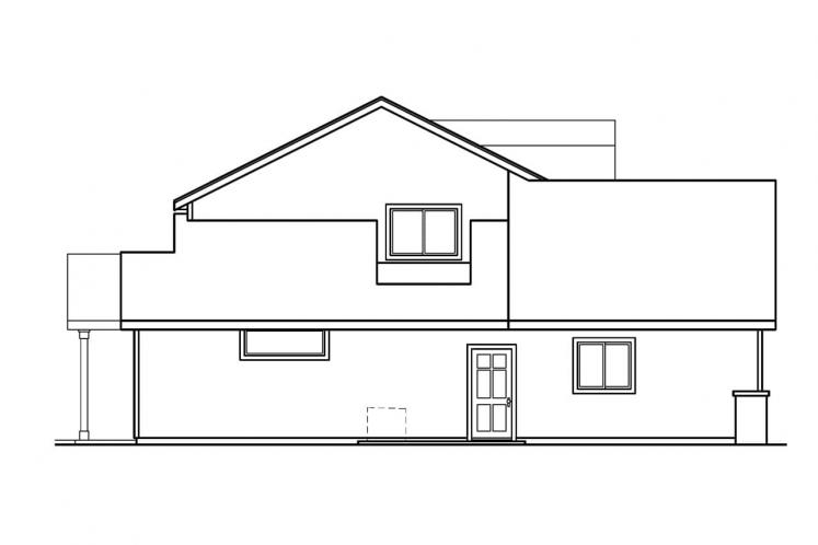 Country House Plan - Garrison 64677 - Left Exterior