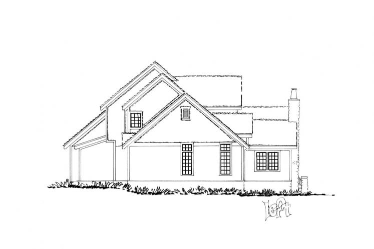 Ranch House Plan - Colter Ridge 64826 - Left Exterior