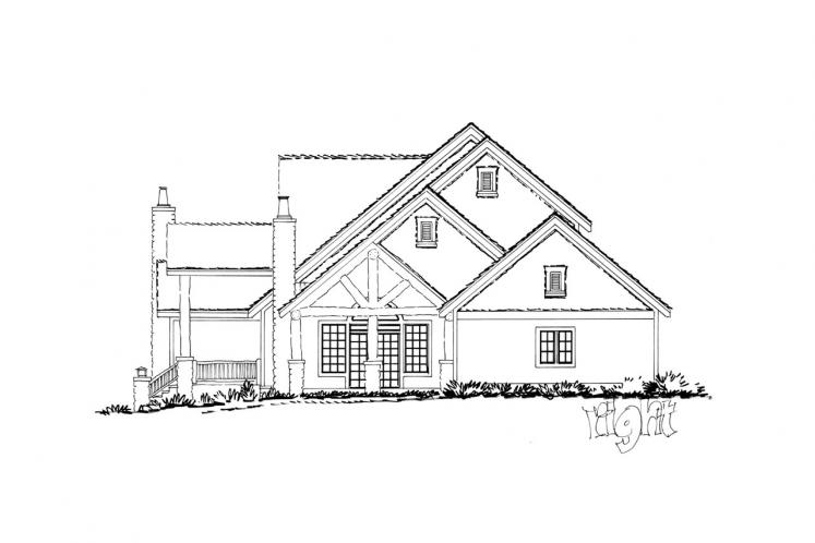 Lodge Style House Plan - Colter Ridge 64826 - Right Exterior