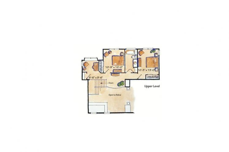 Ranch House Plan - Colter Ridge 64826 - 2nd Floor Plan