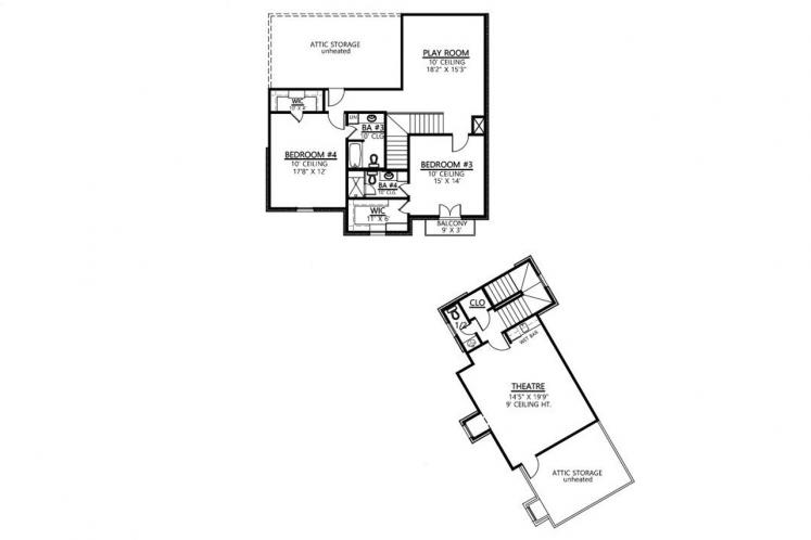Southern House Plan - Sawgrass 64905 - 2nd Floor Plan