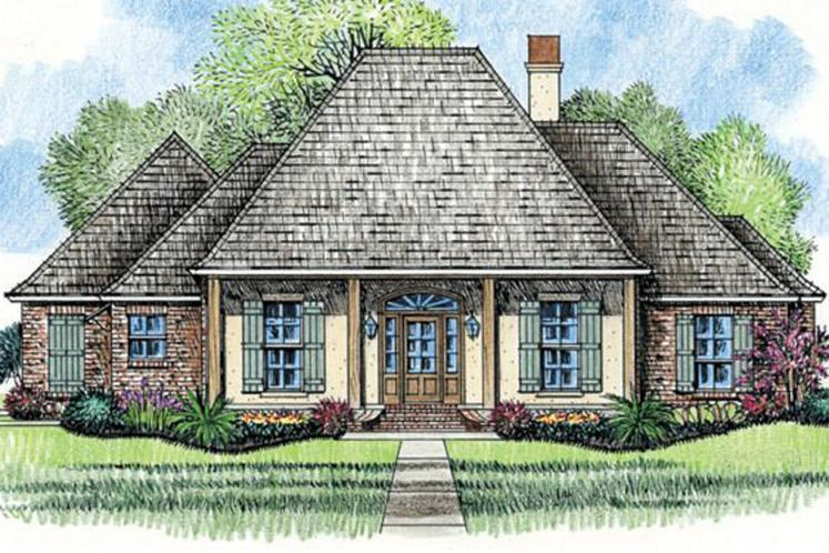 European House Plan - Countryside 64958 - Front Exterior