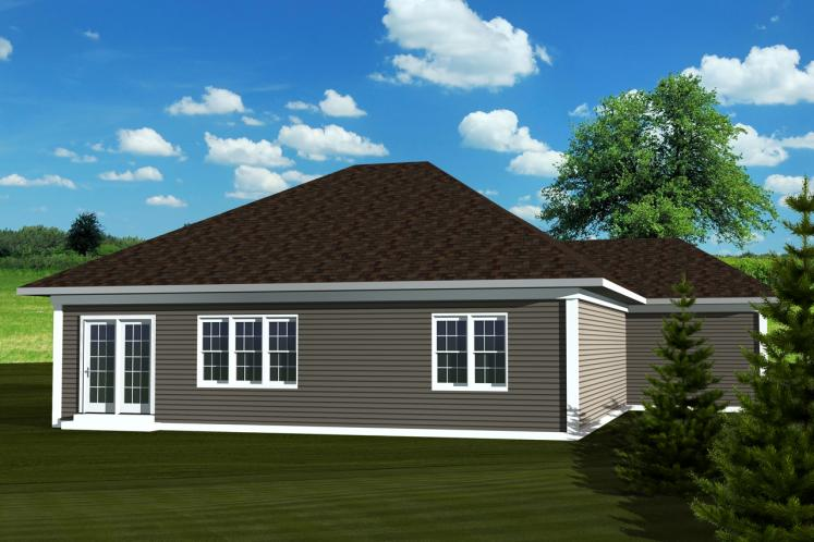 Traditional House Plan -  65019 - Rear Exterior