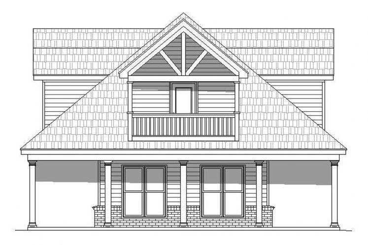 Country House Plan -  65056 - Right Exterior