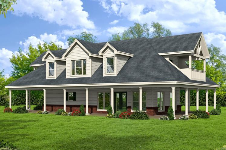 Country House Plan -  65056 - Front Exterior