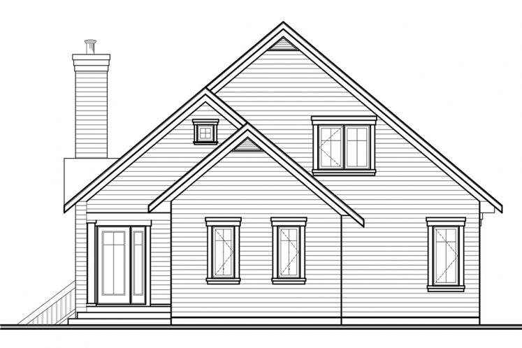 A-Frame House Plan - Rosemont 2 65090 - Front Exterior