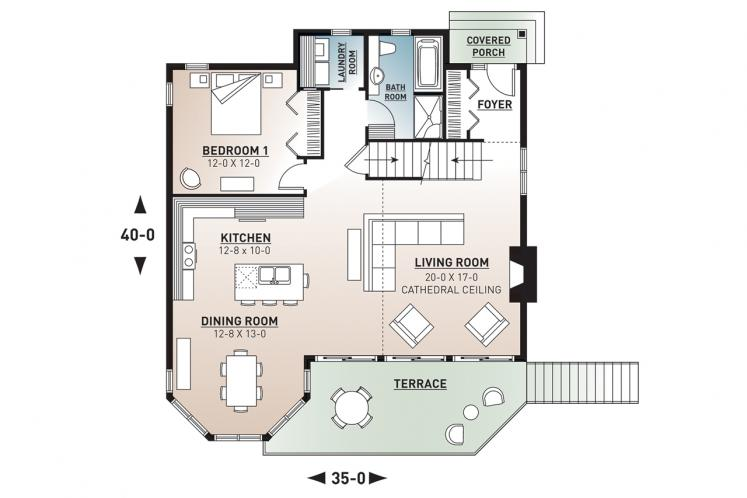 Country House Plan - Rosemont 2 65090 - 1st Floor Plan