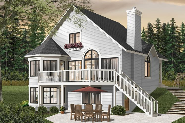 Cottage House Plan - Rosemont 2 65090 - Rear Exterior