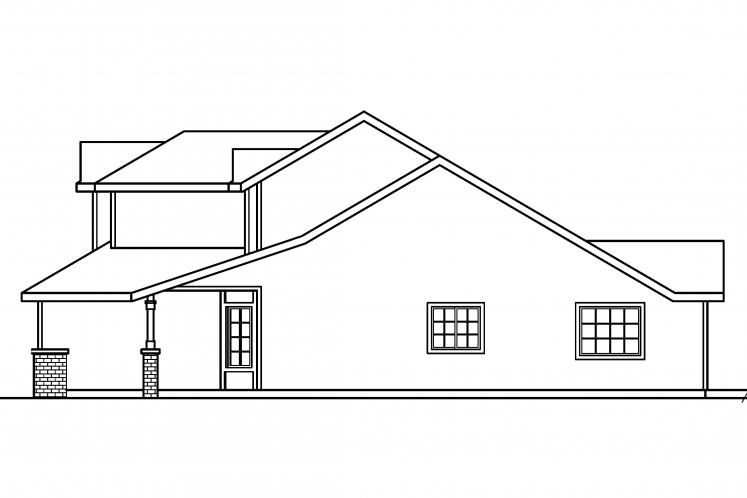 Traditional House Plan - McBride 65309 - Right Exterior