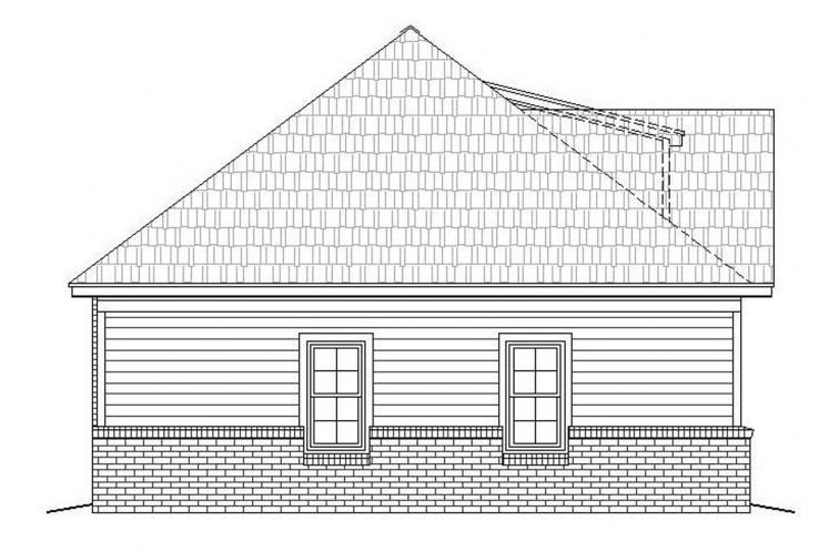 Traditional House Plan -  65362 - Left Exterior