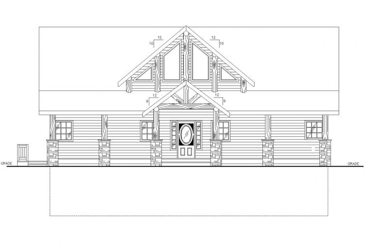 Country House Plan -  65404 - Front Exterior