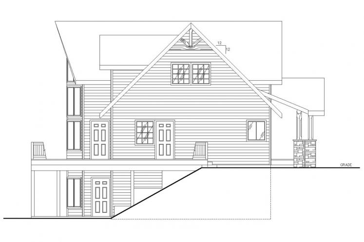 Lodge Style House Plan -  65404 - Left Exterior
