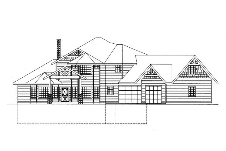 Craftsman House Plan -  65463 - Front Exterior