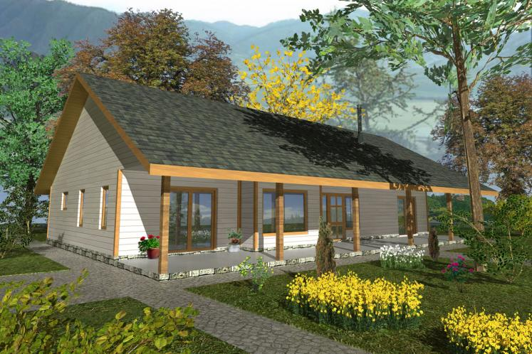 Ranch House Plan -  65506 - Front Exterior
