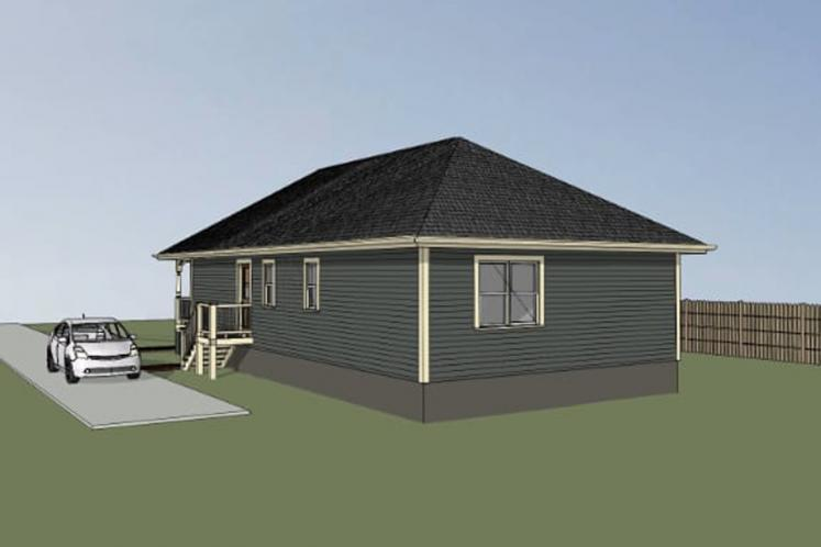 Country House Plan -  65536 - Right Exterior