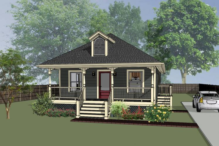 Cottage House Plan -  65536 - Front Exterior