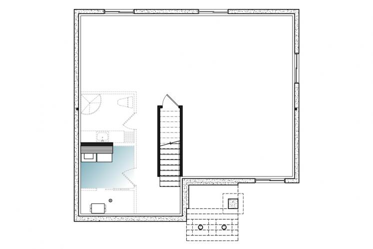 Farmhouse House Plan - Kimiko 65603 - Basement Floor Plan