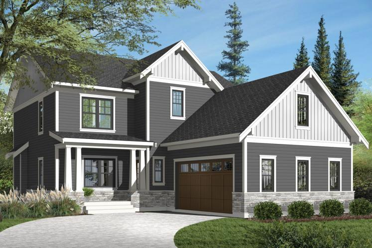 Farmhouse House Plan - Nikolas 2 65844 - Front Exterior