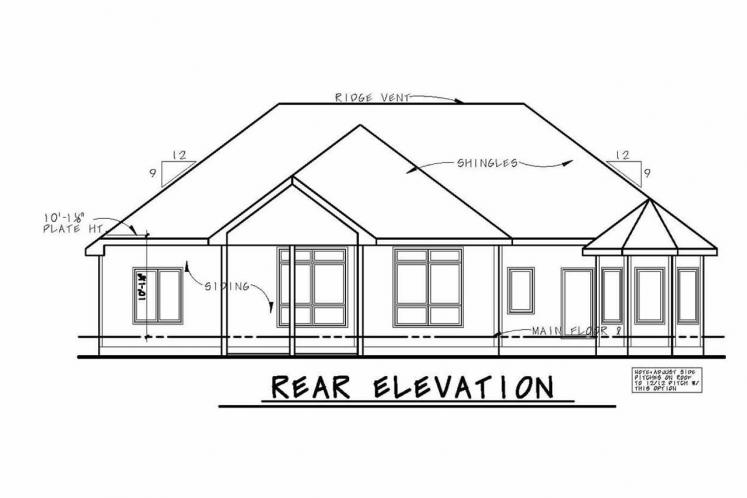 Country House Plan - Leinart 65850 - Rear Exterior