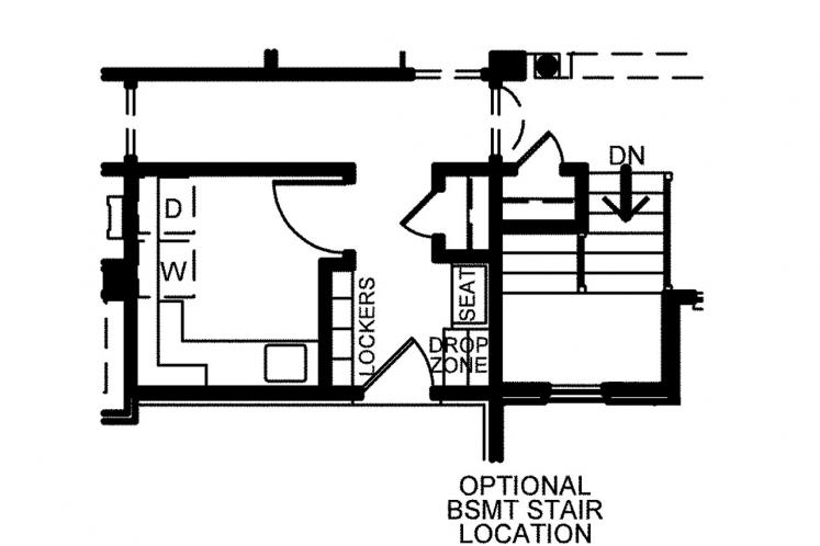Country House Plan - Leinart 65850 - Optional Floor Plan