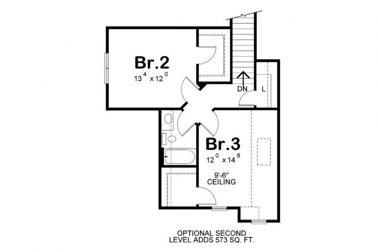 Traditional House Plan - Leinart 65850 - Optional Floor Plan