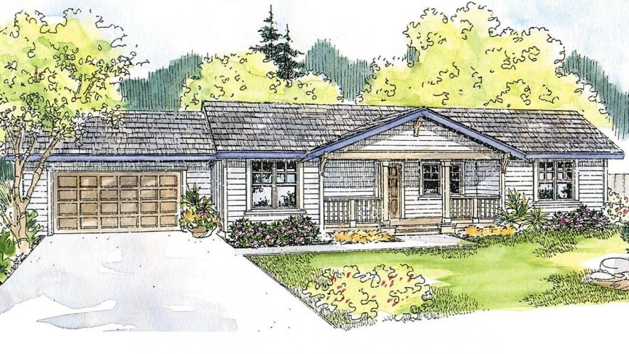 Ranch House Plan - MacKay 65920 - Front Exterior