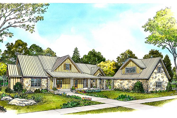Bungalow House Plan - Blanco 66011 - Front Exterior