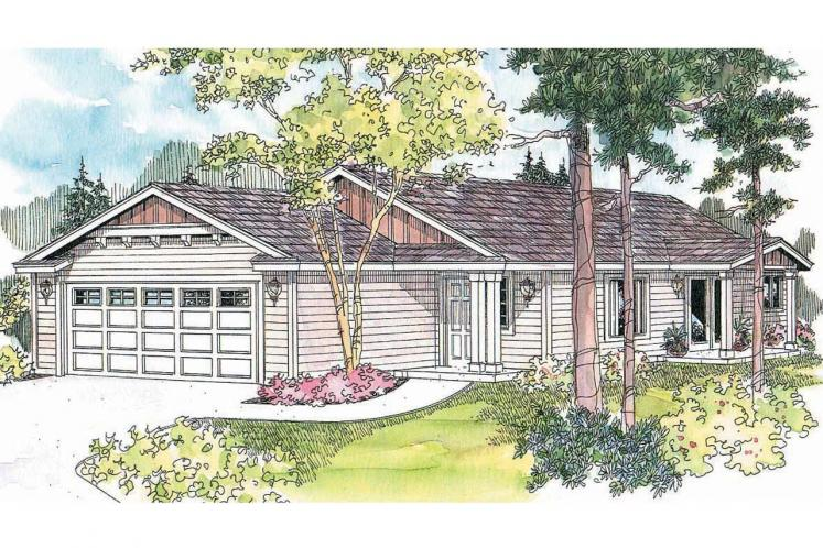 Cottage House Plan - Lindley 66053 - Front Exterior