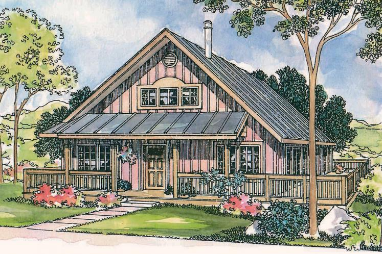 Cottage House Plan - Cordell 66144 - Front Exterior
