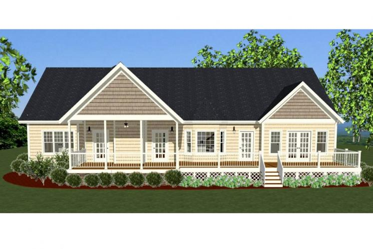 Country House Plan - Carolina Cottage 66200 - Rear Exterior