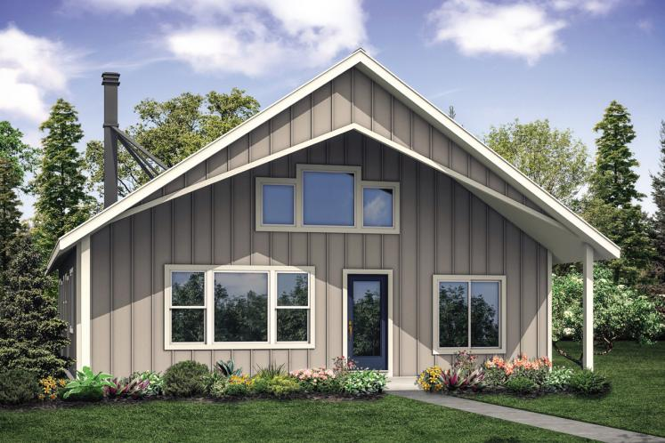 Cottage House Plan - Hideaway 66208 - Front Exterior