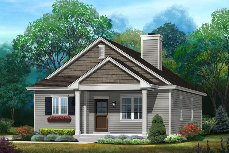 Cottage House Plan -  66255 - Front Exterior
