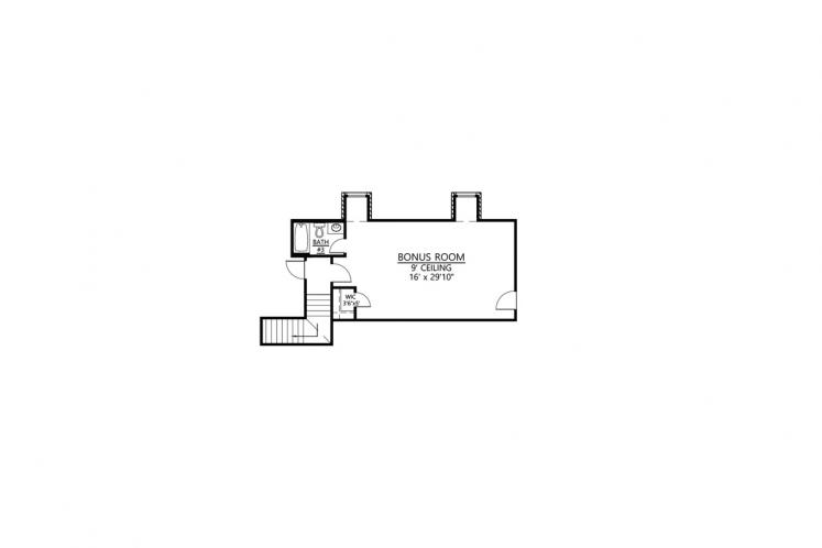 European House Plan - Willow Grove 66388 - 2nd Floor Plan