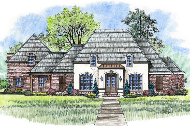 European House Plan - Willow Grove 66388 - Front Exterior