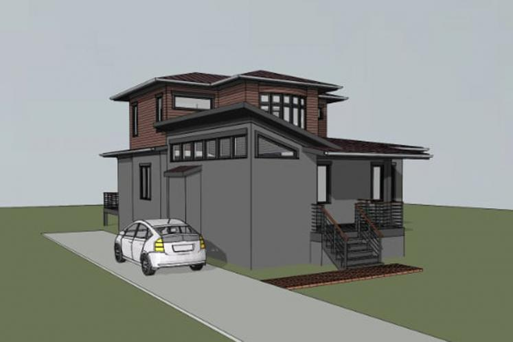 Modern House Plan -  66395 - Right Exterior