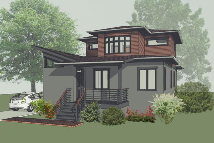 Contemporary House Plan -  66395 - Front Exterior