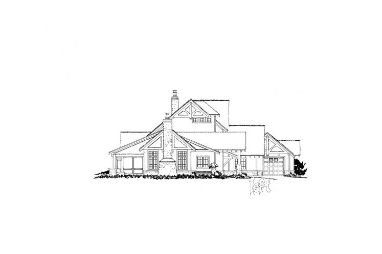 Country House Plan - Castle Hill 66429 - Left Exterior