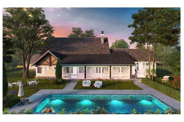 Country House Plan - Castle Hill 66429 - Rear Exterior