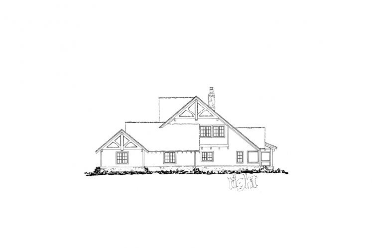 Country House Plan - Castle Hill 66429 - Right Exterior