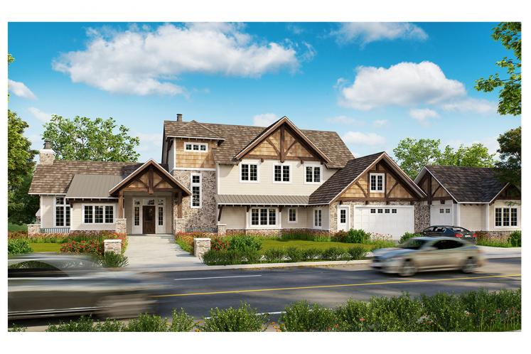 Traditional House Plan - Castle Hill 66429 - Front Exterior