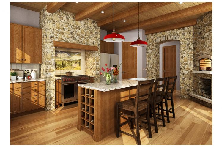 Traditional House Plan - Castle Hill 66429 - Kitchen