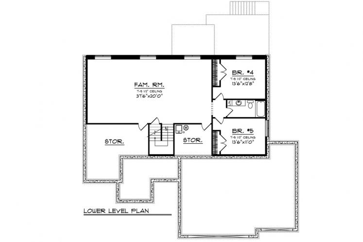 Craftsman House Plan -  66438 - 2nd Floor Plan