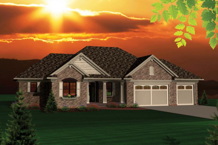 Ranch House Plan -  66460 - Front Exterior