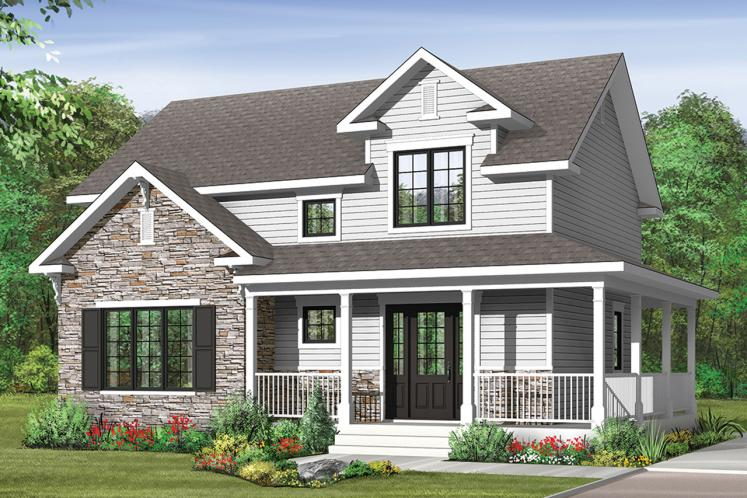 Country House Plan - Houston 66533 - Front Exterior